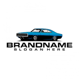 Logo muscle car