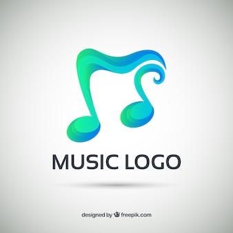 Logo musicale con stile sfumato