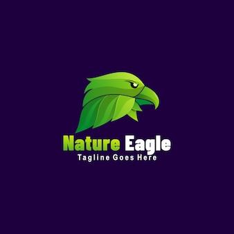 Logo natura aquila gradiente colorato stile.