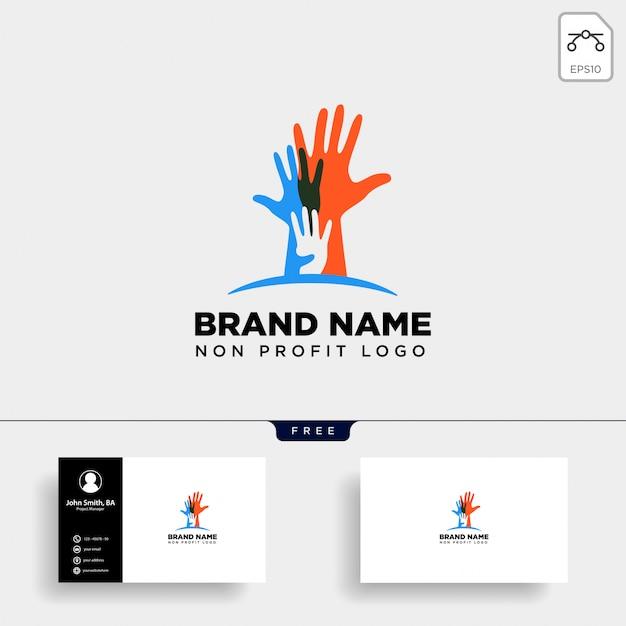 Logo non profit di cura delle mani