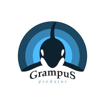 Logo orca whale.