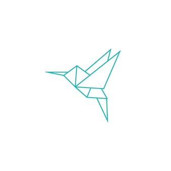 Logo origami hummingbird