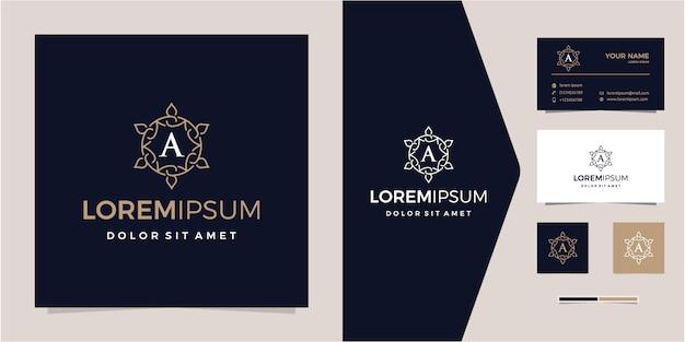 Logo ornamentale di lusso con logo aziendale iniziale -