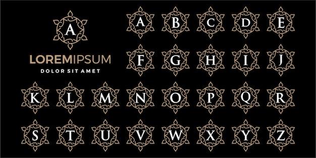 Logo ornamentale di lusso con logo iniziale -