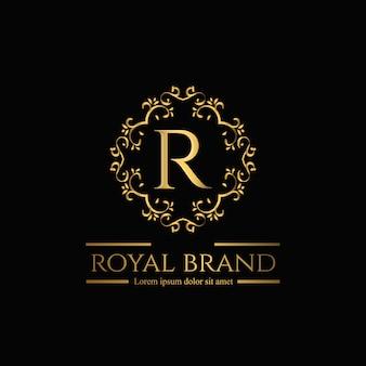 Logo ornamentale dorato