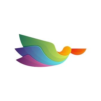 Logo pellicano colorato