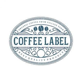 Logo per etichetta bevanda caffè e cibo