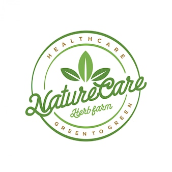 Logo per la natura e la medicina tradizionale
