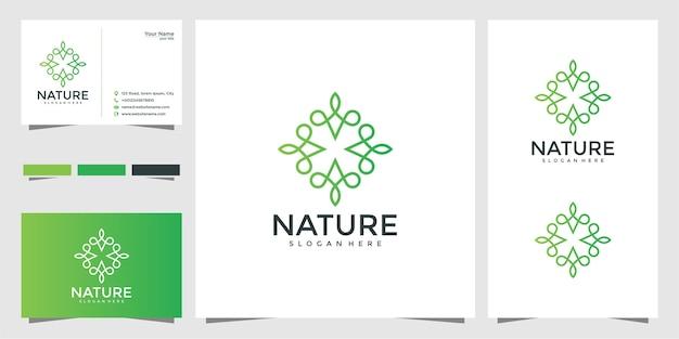 Logo per lezioni di yoga, set di prodotti alimentari naturali e biologici