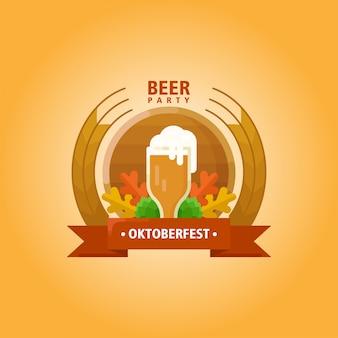 Logo piatto illustrazione oktoberfest