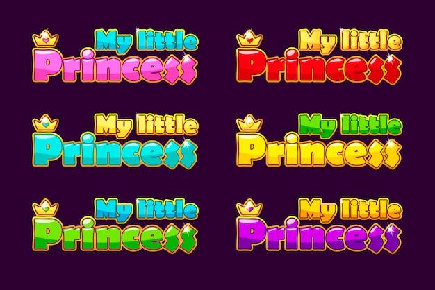Logo piccola principessa in diversi colori