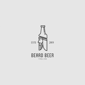 Logo premium con bottiglia e persone