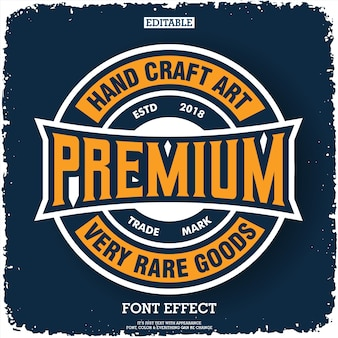 Logo premium con emblema distintivo composizione tipografia