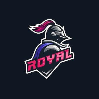 Logo premium illustrazione cavaliere