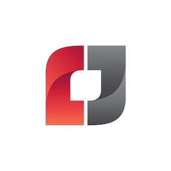 Logo quadrato vettoriale