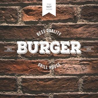 Logo retro burger