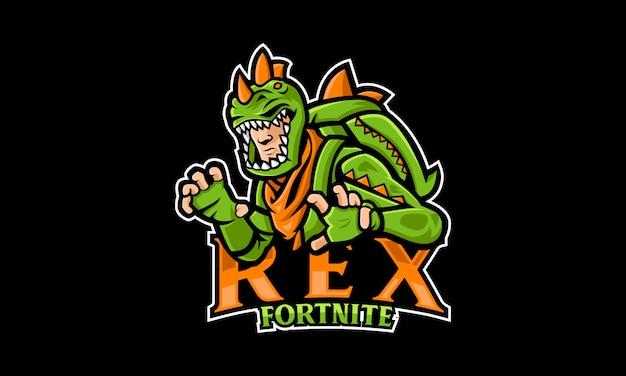 Logo rex dinosaur esports