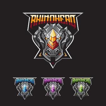 Logo rhino esport di gioco