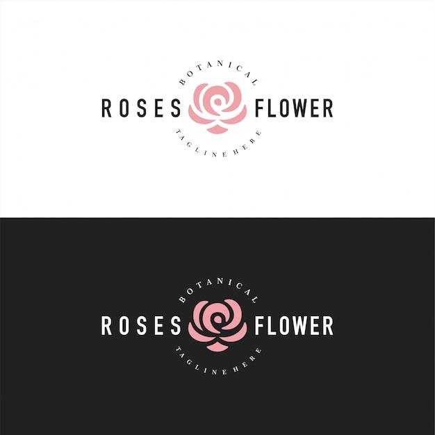 Logo rosa astratto o logotipo per fiorista
