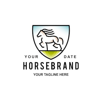 Logo scudo cavallo selvaggio