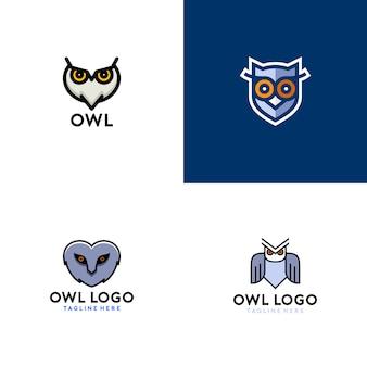Logo semplice gufo
