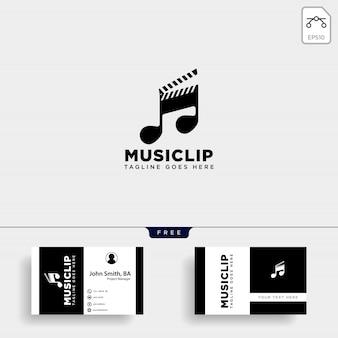Logo semplice intrattenimento multimediale di film clip di musica
