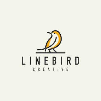Logo semplice uccello - illustrazione