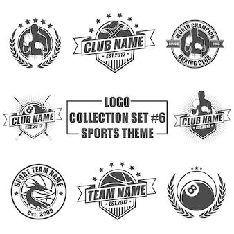 Logo set con tema sportivo