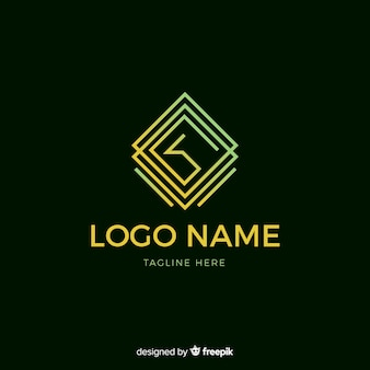 Logo sfumato con forma astratta