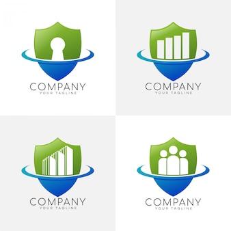 Logo shield secure company