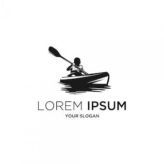 Logo silhouette bambini kayak