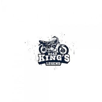 Logo silhouette moto