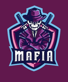 Logo skull mafia e sports