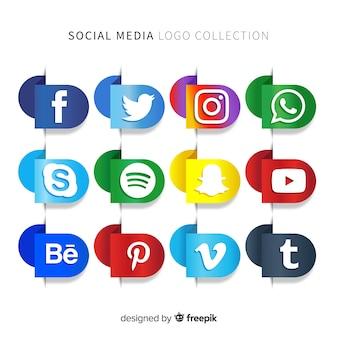 Logo social media gradiente