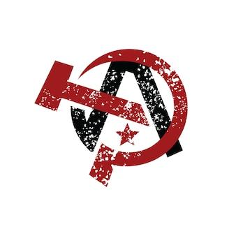 Logo socialista di anarchia ateismo