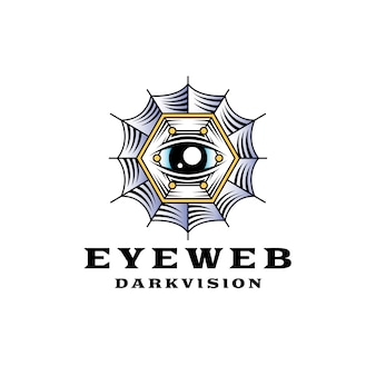 Logo spiderweb eye