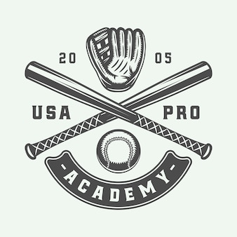 Logo sport baseball vintage, emblema