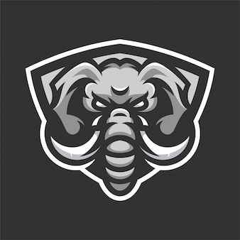 Logo sport elephant mascot head