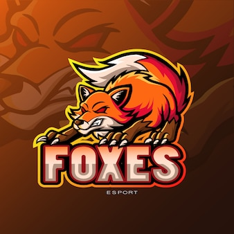 Logo sport mascotte fox