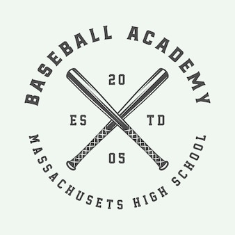 Logo sportivo da baseball