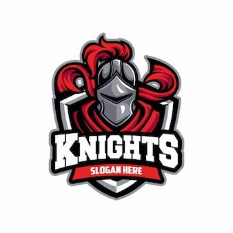 Logo sportivo del cavaliere