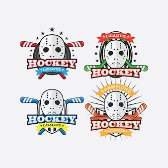 Logo sportivo dell'hockey