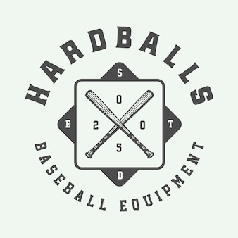 Logo sportivo di baseball