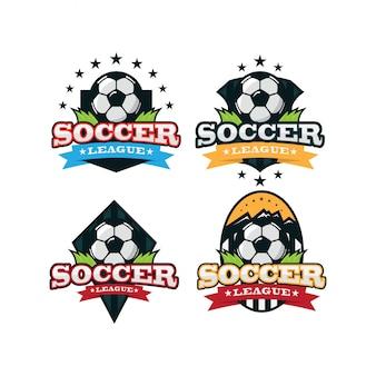 Logo sportivo di calcio