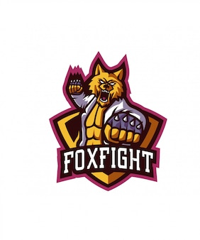 Logo sportivo fox fight