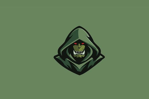 Logo sportivo orc e verde