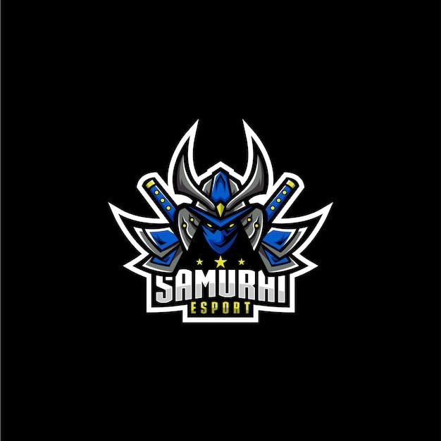 Logo sportivo samurai