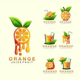 Logo succo d'arancia
