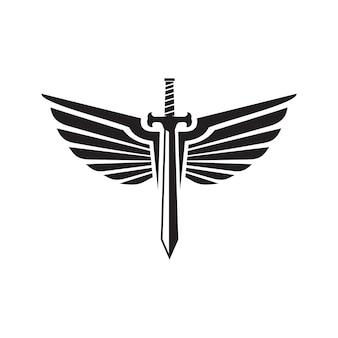 Logo sword and swing