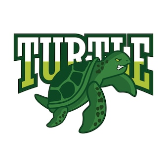 Logo tartaruga verde